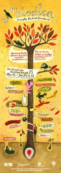 Elsa Klever Illustration Melodica Festival