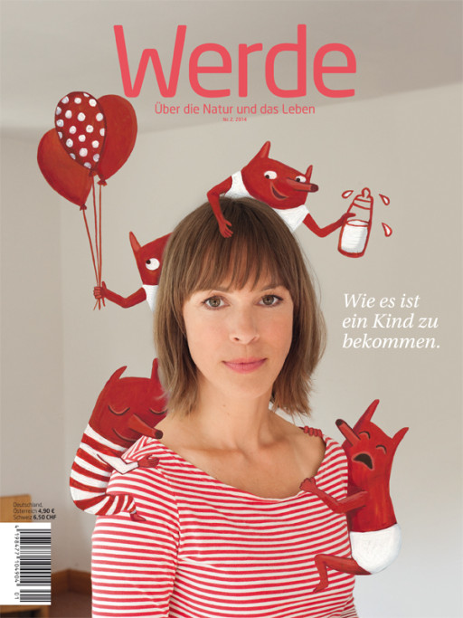 Elsa Klever Illustration Werde Magazine Cover
