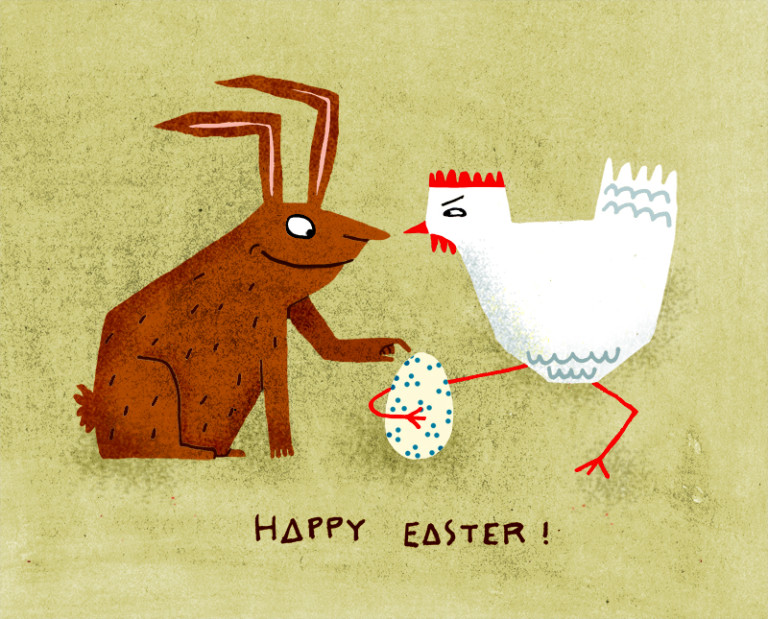Elsa Klever Illustration Happy Easter