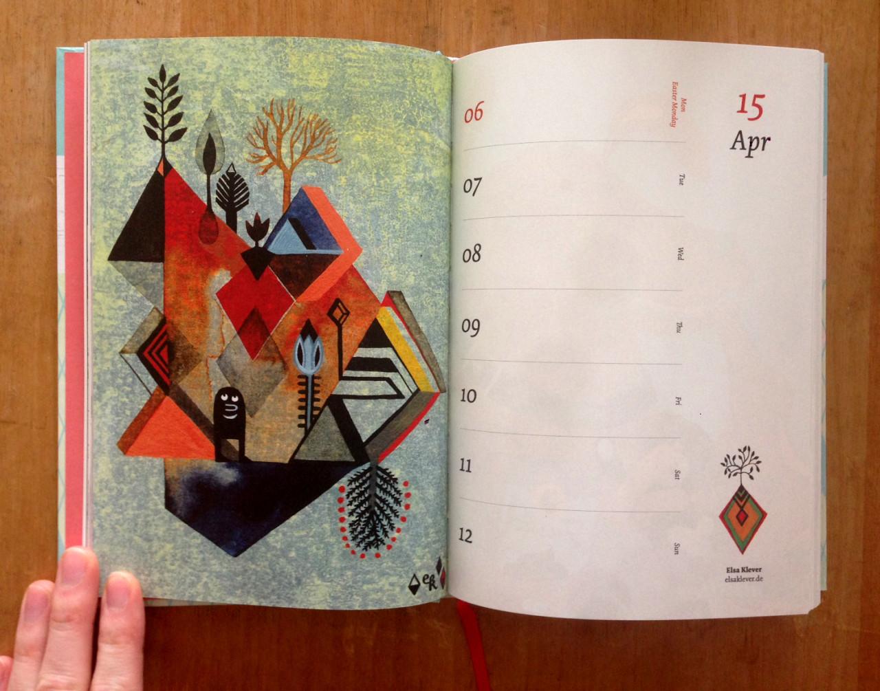 Elsa Klever Illustration Pocket Calendar
