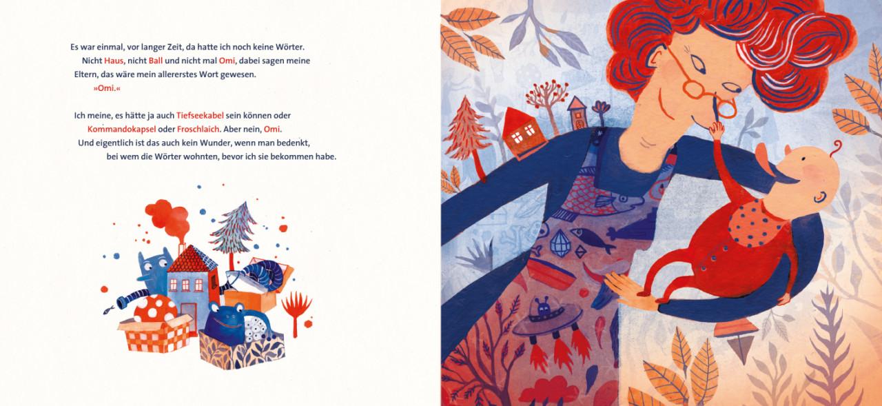 Elsa Klever Illustration Meine Omi, die Wörter und ich