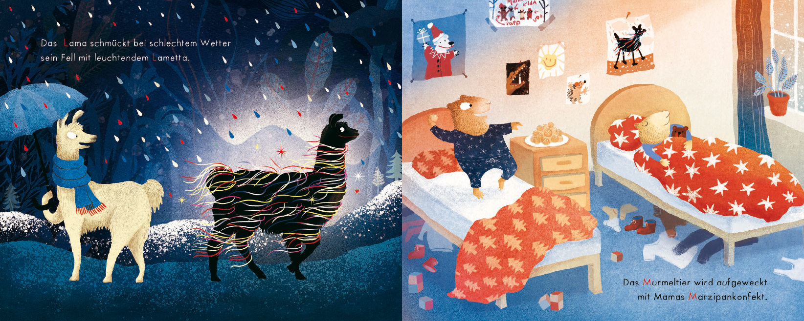 Elsa Klever Illustration Der Fuchs hat seine lieben Nöte beim Halleluja auf der Flöte