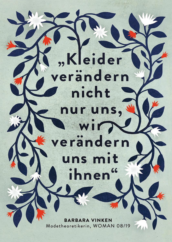 Elsa Klever Illustration Brigitte woman